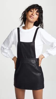 BB Dakota JACK Vegan Leather Pinafore Dress