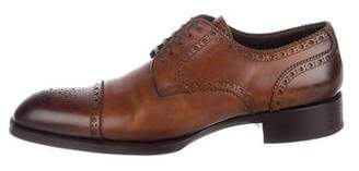 Tom Ford Leather Cap-Toe Brogues