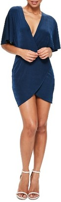 Women's Missguided Plunge Wrap Front Dress $62 thestylecure.com