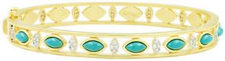 e6d75928b85 Freida Rothman Fleur Bloom Empire Turquoise Wide Hinge Bangle