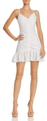 Celine The East Order Ruched Mini Dress