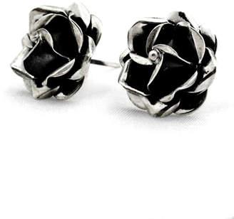 Rusty Linda de Taxco Rose Earrings