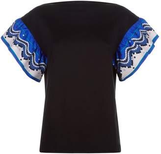 Emilio Pucci Frill Sleeve T-Shirt