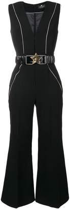 Elisabetta Franchi contrast piped jumpsuit