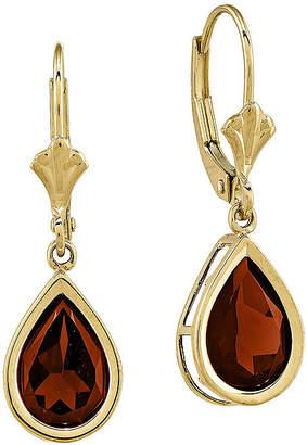 Fine Jewelry Genuine Red Garnet 10K Gold Drop Earrings neOn8