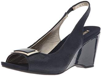 Anne Klein Women's Waverlie Fabric Wedge Sandal