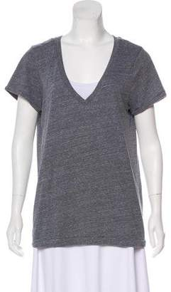 Elizabeth and James Short Sleeve V-Neck Top