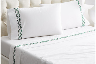 Hamburg House Wheat Sheet Set - White/Green