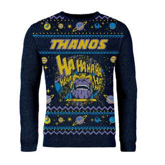 3e4db20bd3c06 Marvel Zavvi Exclusive Avengers Thanos Knitted Christmas Jumper