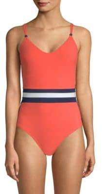 Shan One-Piece Tricolor Swimsuit
