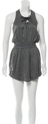 Isabel Marant Lace-Up Silk Mini Dress Lace-Up Silk Mini Dress