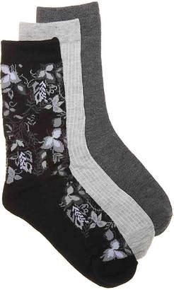 Nine West Floral Crew Socks - 3 Pack - Women's