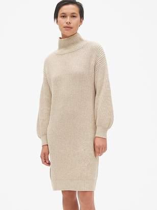 Gap Cozy Blouson Sleeve Turtleneck Sweater Dress