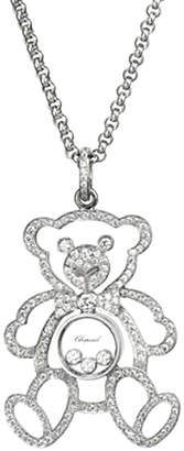 Chopard 18K 1.15 Ct. Tw. Diamond 30In Happy Teddy Bear Necklace