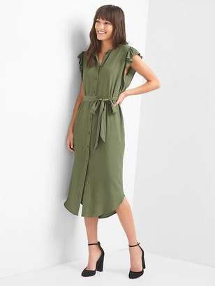 Flutter sleeve shirtdress $69.95 thestylecure.com