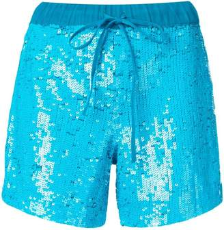 P.A.R.O.S.H. drawstring sequined shorts