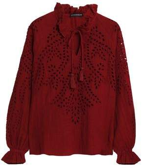 Antik Batik Broderie Anglaise Cotton Blouse