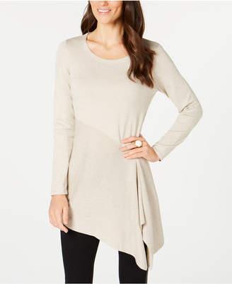 Alfani Metallic Asymmetrical Sweater