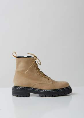 Proenza Schouler Suede Lace Up Boots