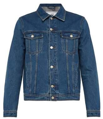 Ami Point Collar Denim Jacket - Mens - Denim