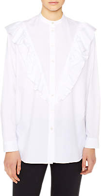 Paul Smith Frill Front Cotton Stretch Shirt, White
