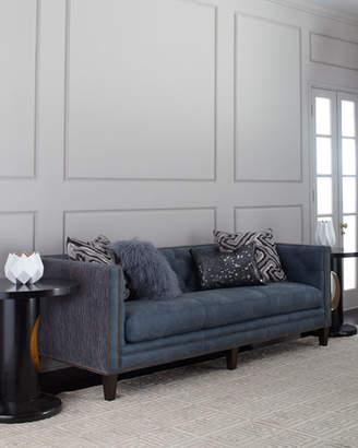 Massoud Jillian Tufted Leather Sofa