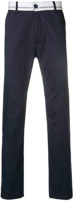 Frankie Morello branded waistband straight trousers