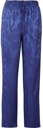 Peter Pilotto Jacquard Straight-leg Pants - Blue