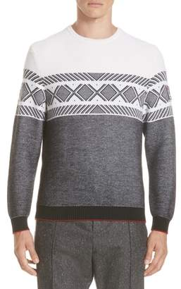 Ermenegildo Zegna Jacquard Wool Crewneck Sweater