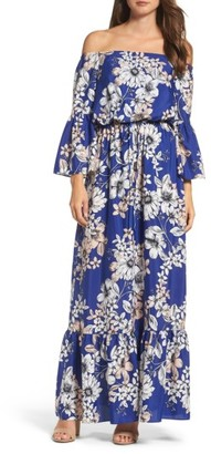 Women's Eliza J Off The Shoulder Floral Maxi Dress $168 thestylecure.com