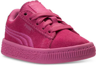 Puma Toddler Girls' Suede Classic Badge Casual Sneakers from Finish Line
