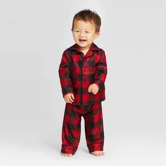 Buffalo David Bitton Wondershop Toddler Holiday Check Flannel Pajama Set - WondershopTM Red