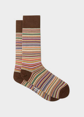 Paul Smith Men's Narrow Signature Stripe Socks