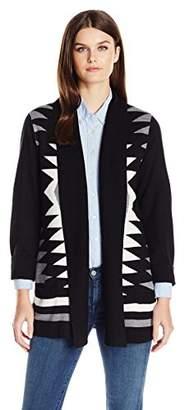 Fly London Napa Valley Women's Cashmerlon Long Sleeves Aztec Away Cardigan Sweater
