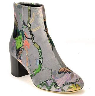Rag & Bone Drea - Velvet Block Heel Ankle Boot