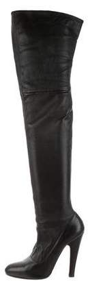 Alaia Leather Thigh-High Boots