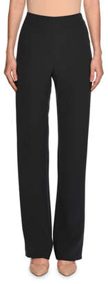 Giorgio Armani High-Waist Wide-Leg Pants, Dark Gray $1,595 thestylecure.com