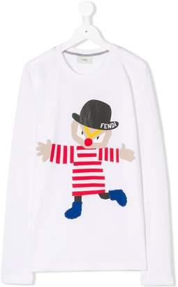 Fendi (フェンディ) - Fendi Kids TEEN clown print T-shirt