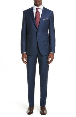 Men's Canali Classic Fit Solid Wool Suit $1,795 thestylecure.com