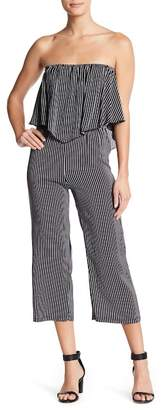Velvet Torch Popover Strapless Jumpsuit