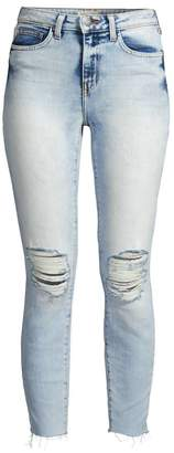 L'Agence Matador High Rise Distressed Skinny Jeans