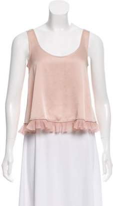 Elizabeth and James Ruffle-Accented Sleeveless Top