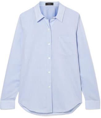Theory Perfect Cotton Shirt - Blue