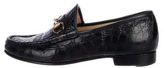 Gucci Alligator Horsebit Loafers