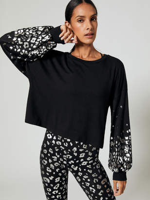 Cheetah Placement Foil Sweatshirt