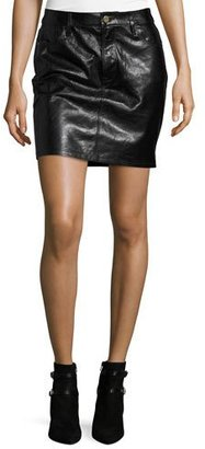 FRAME Leather Mini Skirt, Black $499 thestylecure.com