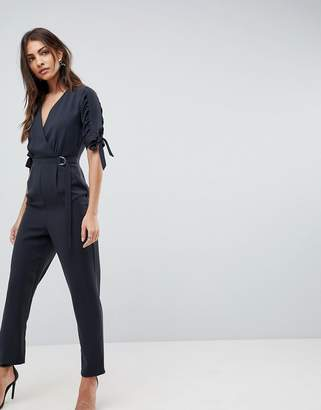 Asos Jumpsuit with Wrap Front and D-Ring Detail