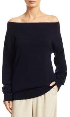 Vince Off-The-Shoulder Cashmere Top