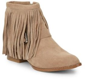 Capricorn Fringe Suede Ankle Boots $129 thestylecure.com