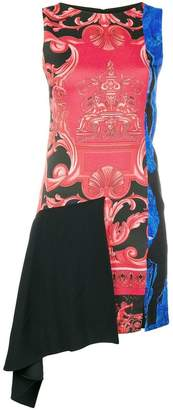 Versace sleeveless baroque print dress